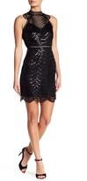 Minuet Scalloped Sequin Detail Cutout Dress