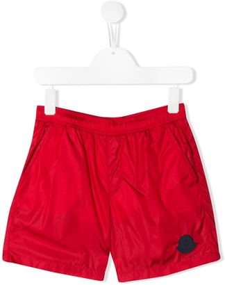 Moncler Enfant Logo-Patch Swim Shorts