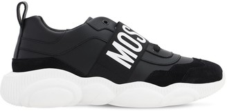 Moschino Leather Sneakers W/Logo Band