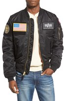 Alpha Industries Men's Slim Fit Reversible Ma-1 Flex Bomber Jacket