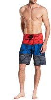 Burnside Hibiscus Print Board Short