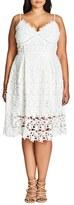 City Chic Plus Size Women's So Fancy Lace Dress