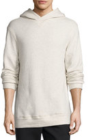 Helmut Lang Textured Pullover Hoodie, Light Heather Gray