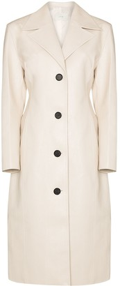 LVIR Single-Breasted Faux Leather Coat
