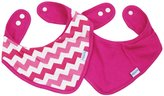 Bumkins Printed Bandana Bib - Cotton - Pink Chevron - 2 ct