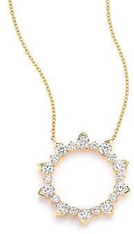 Hearts On Fire Women's Aerial Diamond & 18K Yellow Gold Eclipse Pendant Necklace