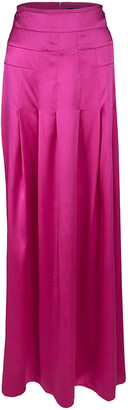 Boss by Hugo Boss Pink Silk Satin Varana Maxi Skirt S
