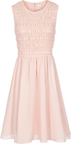 Reiss Brea FIT AND FLARE SMOCKED DRESS