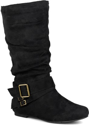 Journee Collection Shelley Buckle Slouchy Boot