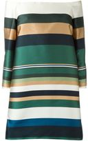 Rosetta Getty off-shoulder striped dress