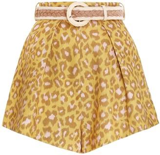 Zimmermann Carnaby Leopard Short