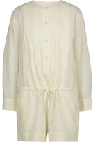 Etoile Isabel Marant Rodney Pintucked Cotton-Broadcloth Playsuit