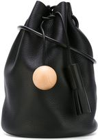 Building Block shoulder bag - women - Leather/wood - One Size