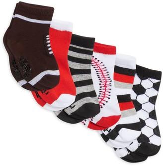 Capelli New York Baby Boy's Six-Pack Pattern Socks