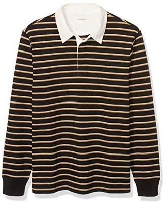 Goodthreads Amazon Brand Men's Long-Sleeve Rugby Polo Shirt