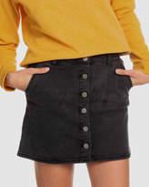 Roxy Womens Wild Young Spirit Button Denim Mini Skirt