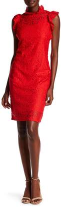 Alexia Admor Lace Cap Sleeve Sheath Dress