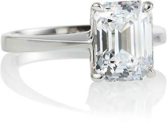 FANTASIA Asscher Solitaire Ring, Sizes 6-7