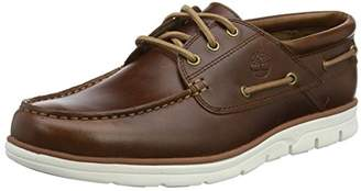 Timberland Men's Bradstreet 3 Eye Boat Shoes, Brown (Md Brown Full Grain)