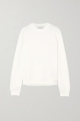 Ninety Percent Net Sustain Stephanie Organic Cotton-jersey Sweatshirt - White