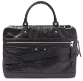Balenciaga Distressed Lambskin Briefcase