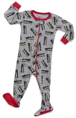 Leveret Grey Train Footed Sleeper Pajama (Baby, Toddler, & Little Kids)