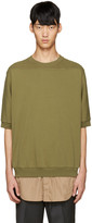3.1 Phillip Lim Green Shirt-Tail Pullover