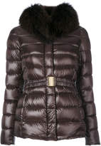 Herno furry neck padded jacket