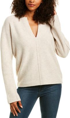 Vince Split Neck Wool & Cashmere-Blend Sweater