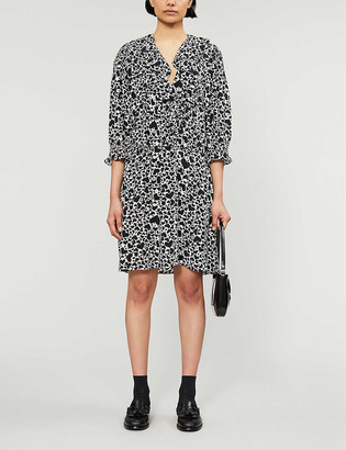 Zadig & Voltaire Roni heart-print silk-crepe mini dress