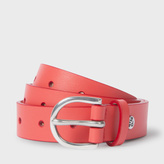 Paul Smith Women's Coral Punched Hole Leather Belt