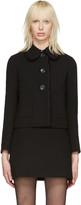 Miu Miu Black Ruffle Jacket