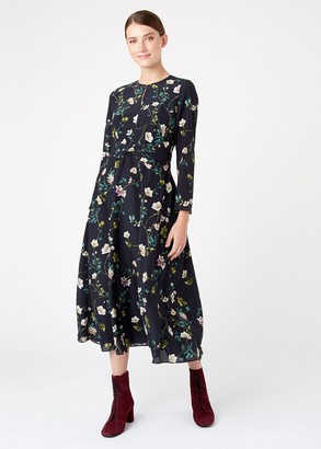 Hobbs Silk Hellebore Dress