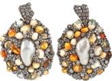 Arunashi Fire Opal and Pearl Earrings