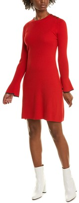 Tory Burch Flare Sleeve Wool Sweaterdress
