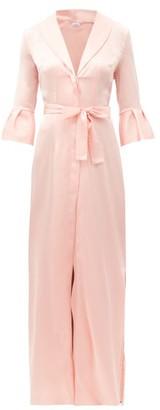 La Perla Exotique Silk-blend Satin Robe - Pink