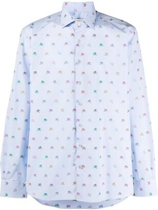 Etro Long Sleeve Logo Print Shirt