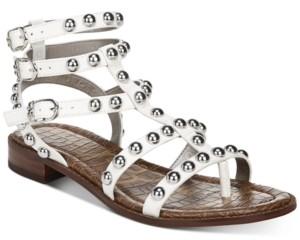 Sam Edelman Women's Eavan Studded Gladiator Sandals Women's Shoes