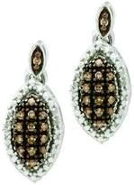 DazzlingRock Collection 0.30 Carat (ctw) 10k White Gold Round Diamond Ladies Drop Earrings