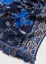 Violeta BY MANGO Fringed printed scarf