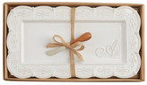 Mud Pie Initial Hostess Tray 2-Piece Set - A
