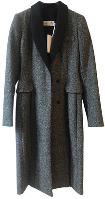 Christian Dior Anthracite Wool Coat for Women