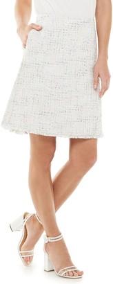 Elle Women's Tweed Skirt