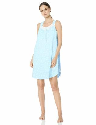 Aria Women's Short Gown aqua FL L
