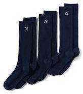 Lands' End Women's Seamless Toe Solid Trouser Socks (3-pack)-Black