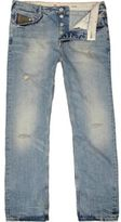 River Island Light Wash Dean Straight Jeans