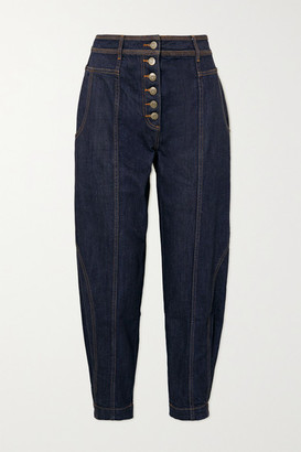 Ulla Johnson Keaton High-rise Tapered Jeans - Mid denim