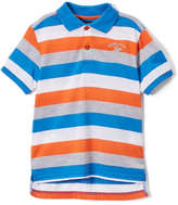 Beverly Hills Polo Club Vibrant Orange Stripe Jersey Polo - Toddler & Boys