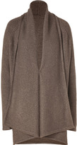Vince Brown Heather Wool-Blend Open Cardigan