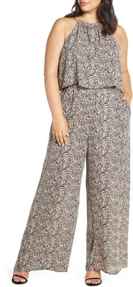 Gibson Woven Double Layer Halter Jumpsuit